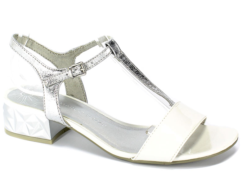Sandały Marco Tozzi 2-28209-22 197 White Comb