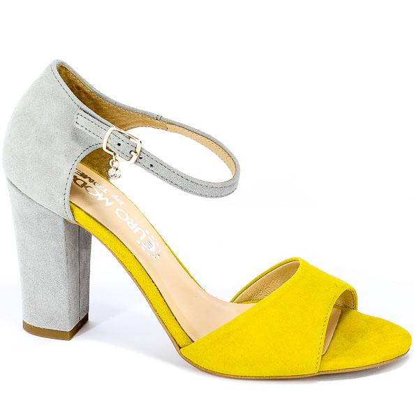 Sandały Tomex 1511 Jasny Szary Z/Żółty Z