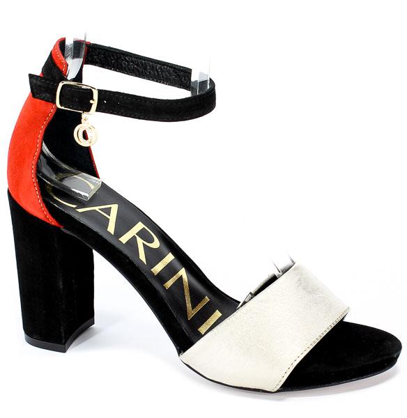 Sandały Carinii B5013-M72-360-N31-B32 Czarny/Złoty