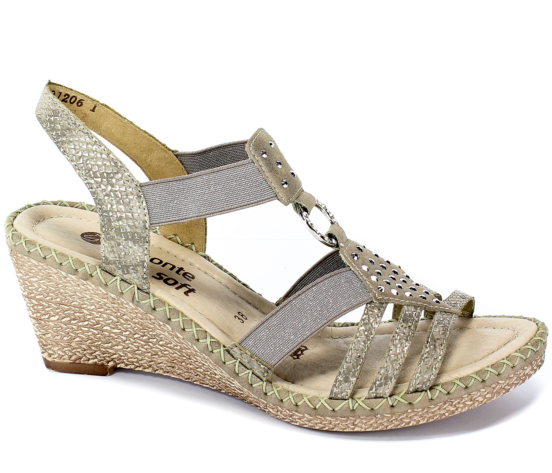 Sandały Remonte D6768-65 Beige Combination