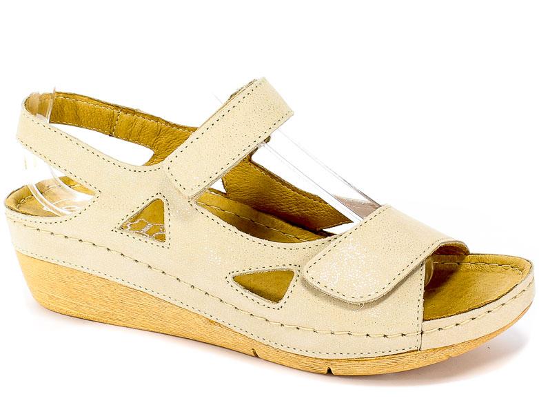 Sandały Contes 469 S Beżowy Nub