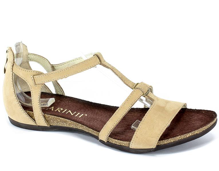 Sandały Carinii B5017-M65-000-000-B02 Beż Cappucino