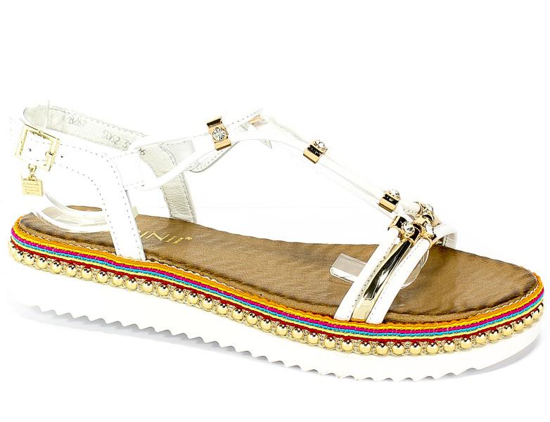 Sandały Carinii B5062-L46-000-000-986 Biały