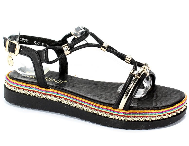 Sandały Carinii B5062-E50-000-000-986 Czarny