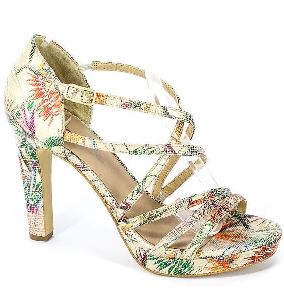 Sandały Tamaris 1-28038-32 403 Beige Flower
