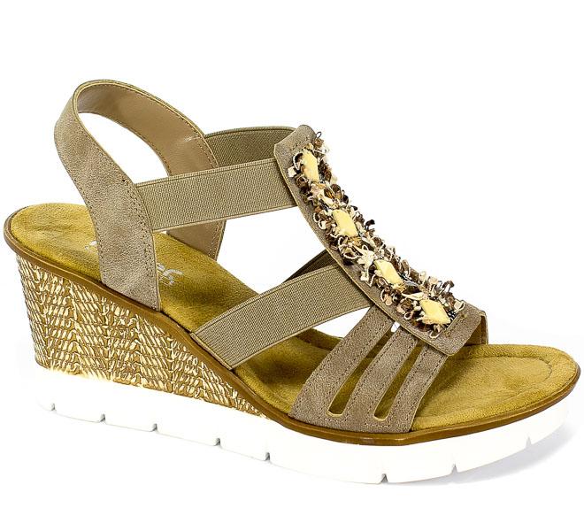 Sandały Rieker 65596-64 Beige