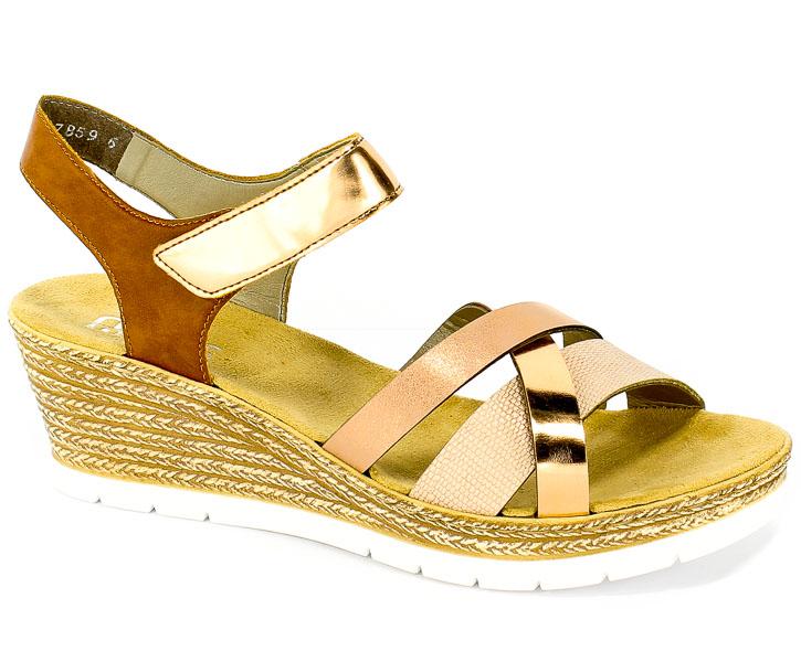 Sandały Rieker 61900-90 Metallic