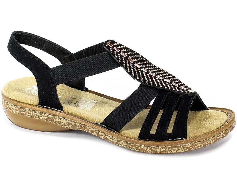 Sandały Rieker 628G6-00 Black