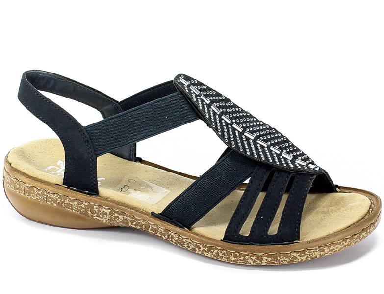 Sandały Rieker 628G6-14 Blue