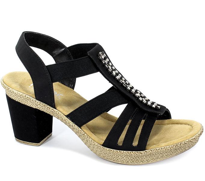 Sandały Rieker 66584-00 Black