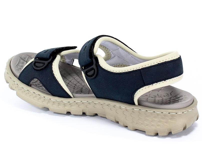 67866 14 blue combiantion, sandały damskie, Rieker