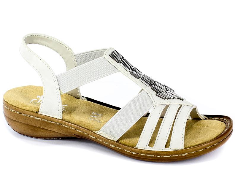 Sandały Rieker 60800-80 Weiss
