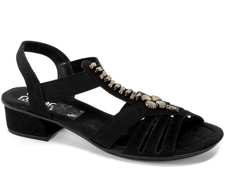 Sandały Rieker V6206-00 Black