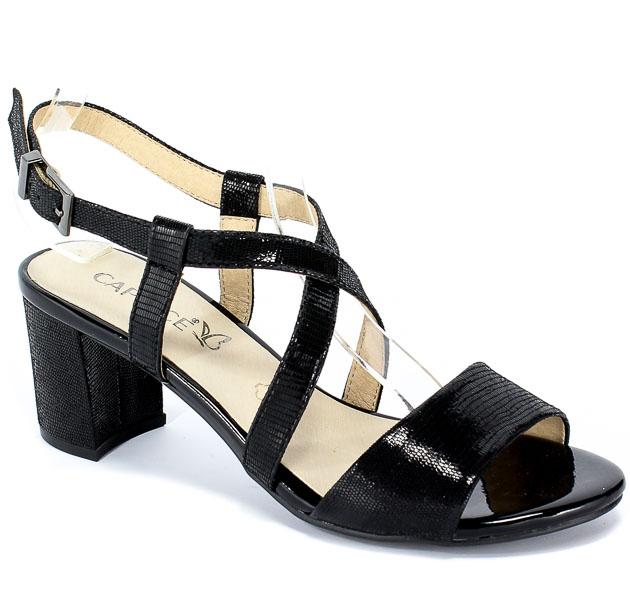 Sandały Caprice 9-28300-22 010 Black Reptile