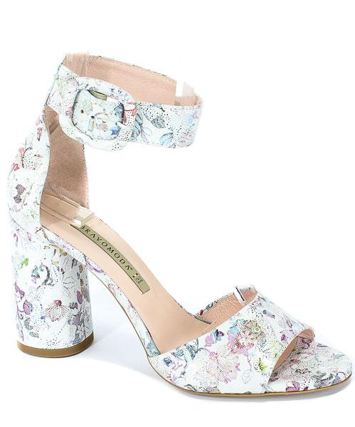 Sandały Bravo Moda 1734 Kwiaty White