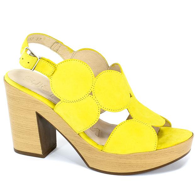 Sandały Wonders L-9152 Lemon