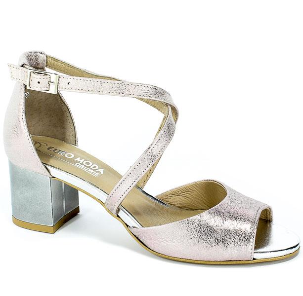 Sandały Euro Moda 19 2807/071-P Pudrowy Róż