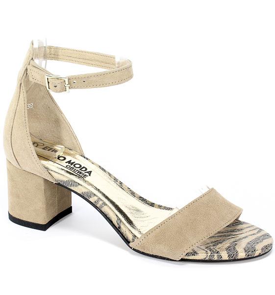 Sandały Euro Moda 19 3004/001-P Beż