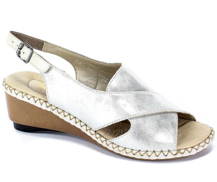 Sandały Rieker 66170-90 Silver/Platinum