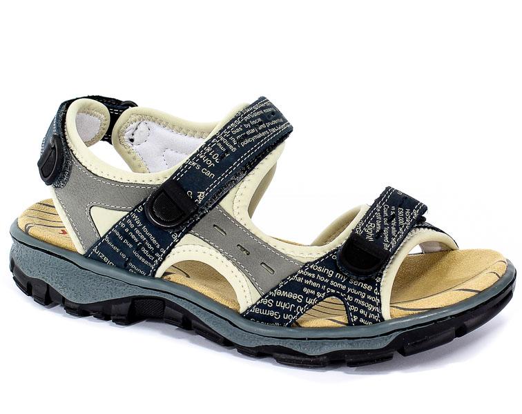 Sandały Rieker 68872-14 Blue Combination