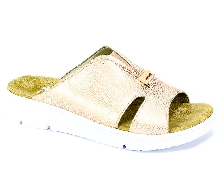 Klapki Rieker 65391-90 Gold