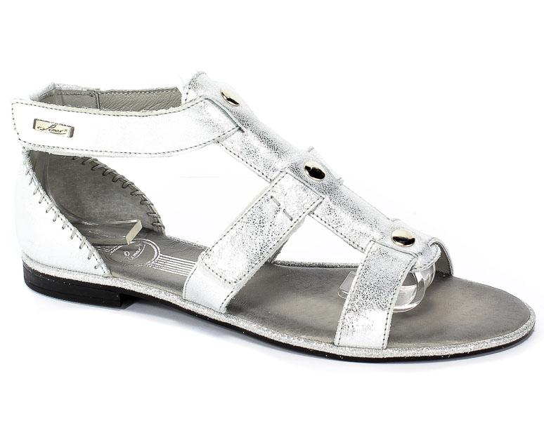 Sandały Lemar 40035 Przecier.Kryształ Srebro