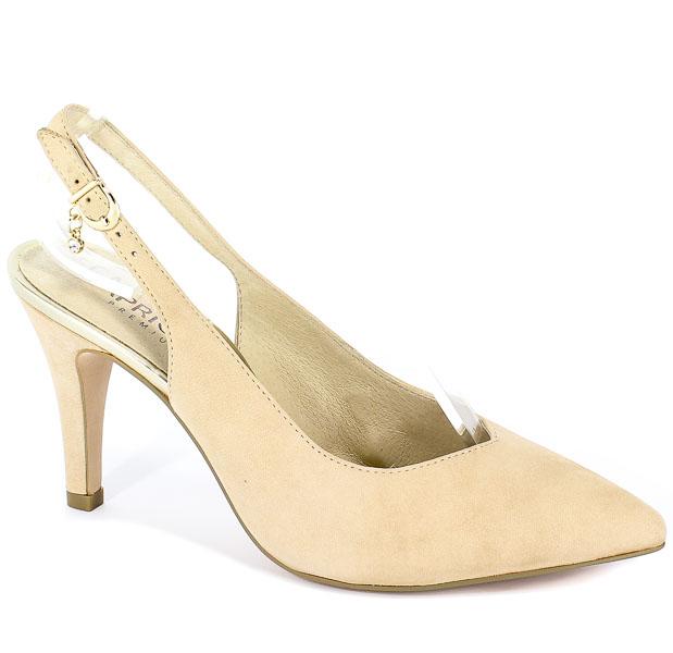Sandały Caprice 9-29602-22 401 Beige Nubuc