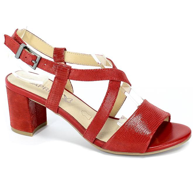 Sandały Caprice 9-28300-22 522 Red Reptile