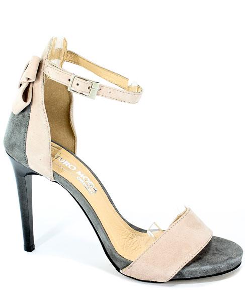 Sandały Euro Moda 19 2496/021-P Szary