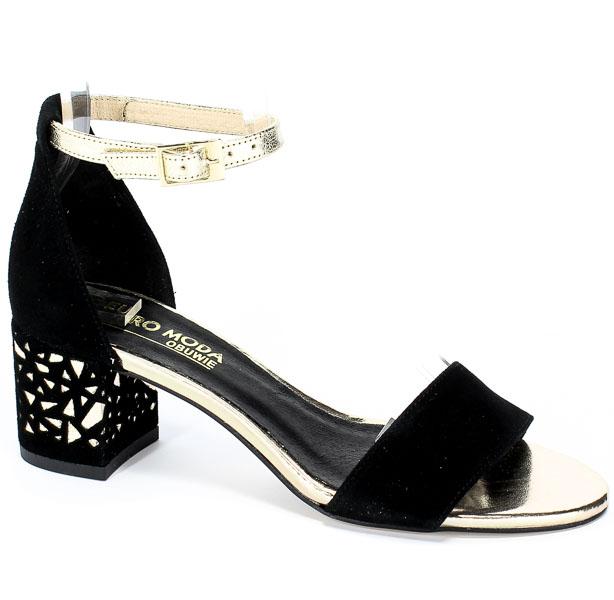 Sandały Euro Moda 19 2803/003-P Czarny