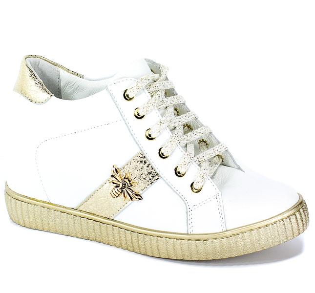 Sneakersy  R.Polański 0959 Biały-Lico Złoty