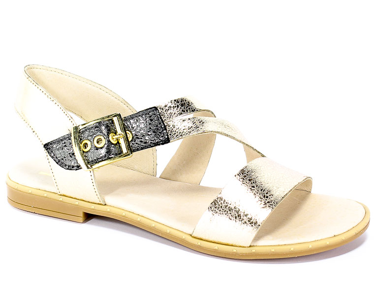 Sandały Lamanti 1-501 Złoto 47
