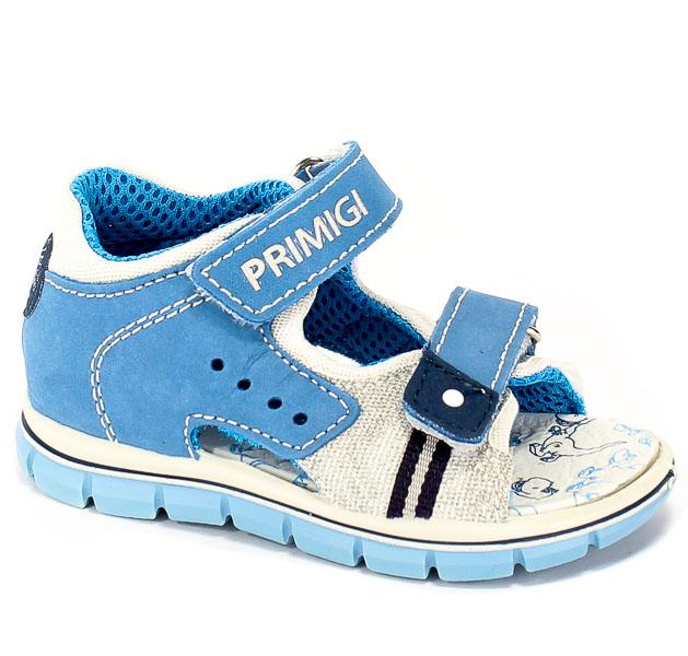 Sandały Primigi 3380211 Nabuk/Rete/S.Je/Azzu r.18-26
