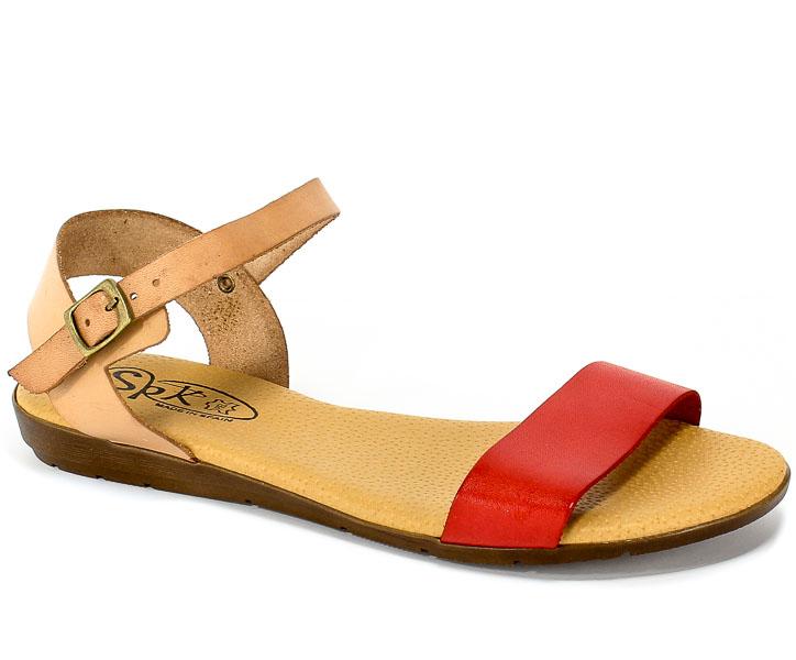 Sandały SPK Shoes 9240 Rojo/Nuez