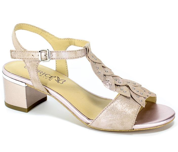 Sandały Caprice 9-28213-22 590 Rose Sue.Metal