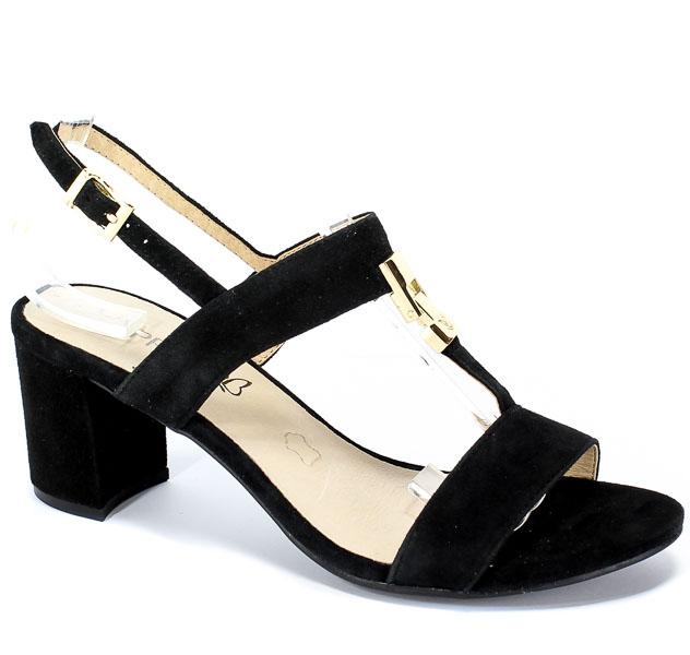 Sandały Caprice 9-28303-22 004 Black Suede
