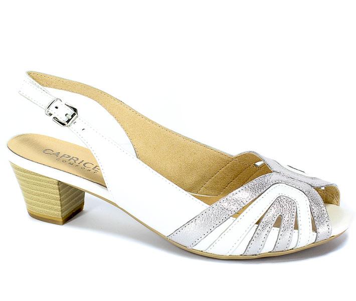 Sandały Caprice 9-28206-22 191 White/Silver