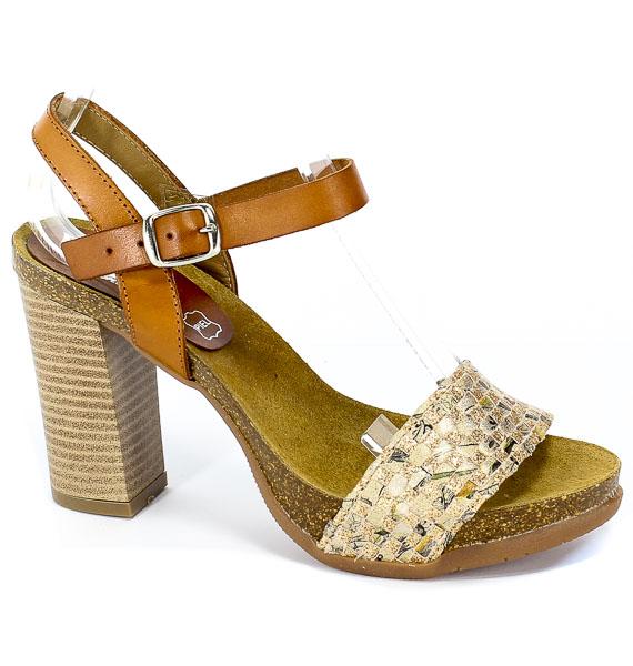 Sandały Verano 3299 Cuero Ad banda Platino