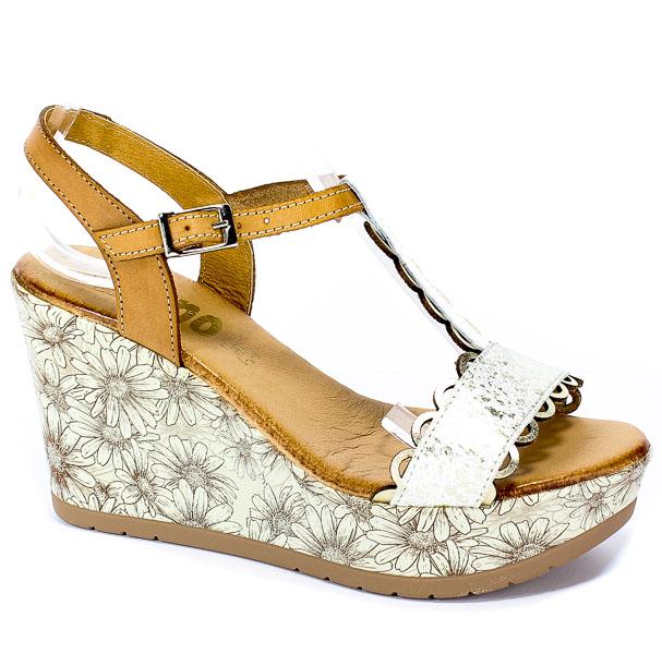 Sandały Verano 8018 Picasso Jolie Blanco Platino Tostado