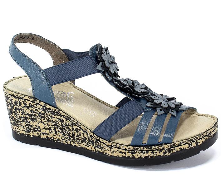Sandały Rieker V7673-12 Blue