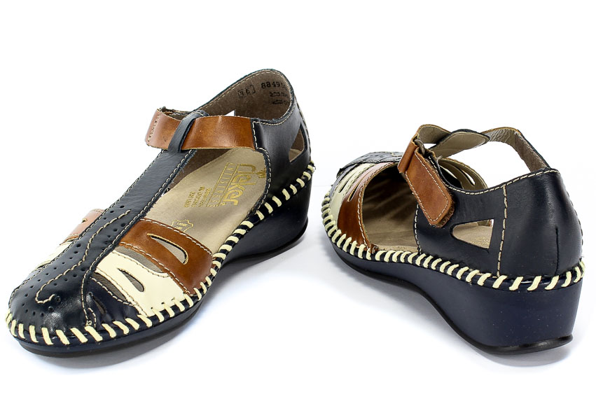 Sandały Rieker N1667-14 Blue Combination