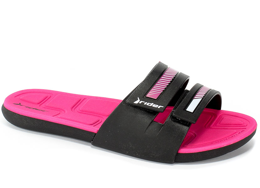 Klapki Rider 82503 20753 Black/Pink