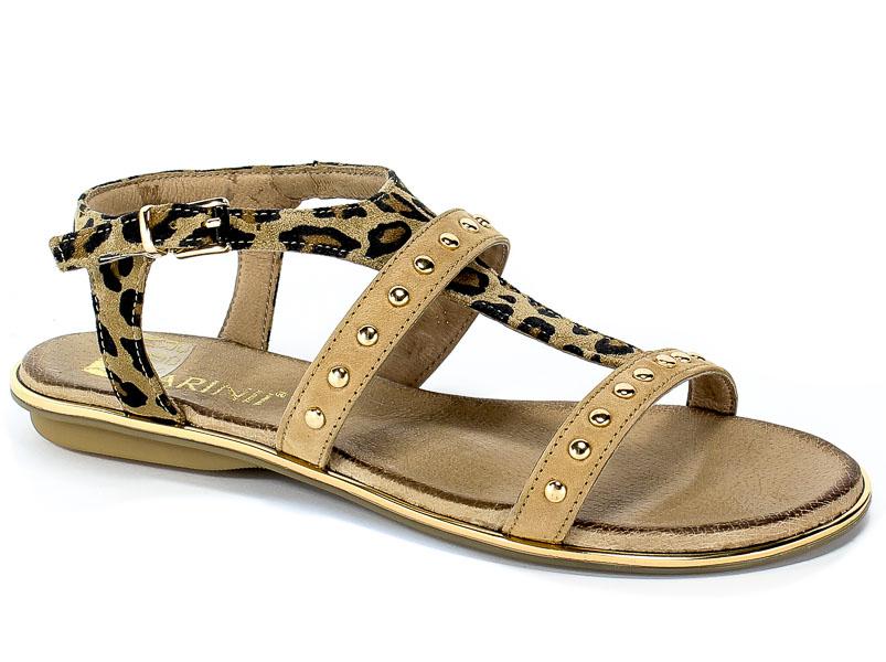 Sandały Carinii B4888-654-N42-000-971 Pantera/Beż