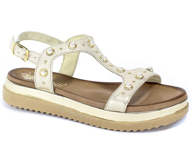 Sandały Carinii B4996-F76-000-000-986 Złoty