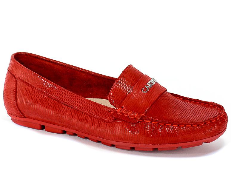 Mokasyny Carinii B4353-503-000-000-C85 Czerwony