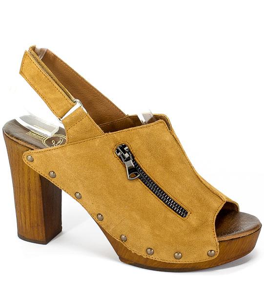 Sandały Lemar 40173 Zamsz Brąz
