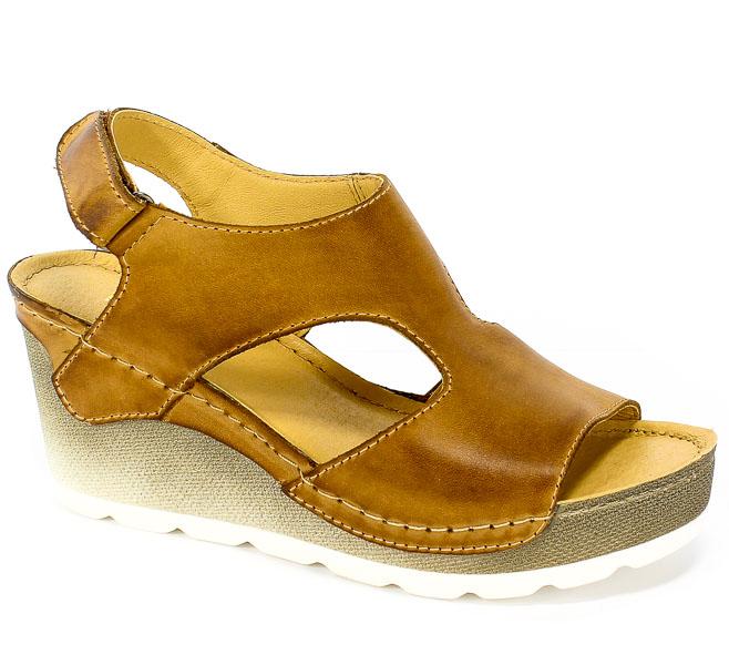 Sandały Dolce Pietro 0888-006-01-1 Brąz Jasny