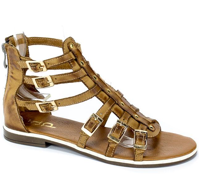 Sandały Dolce Pietro 2096-006-01-1 Brąz Jasny