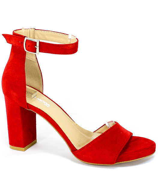 Sandały Euro Moda Ro 448 Czerwony