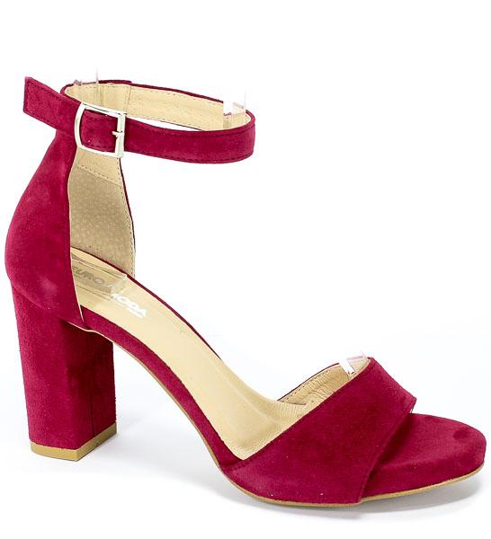 Sandały Euro Moda Ro 448 Burgund
